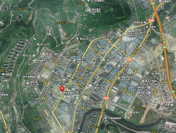 绵阳市游仙区街道地图