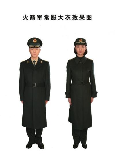 火箭军常服大衣效果图-火箭军今起换发新军服 衬衣为国际经典色图片
