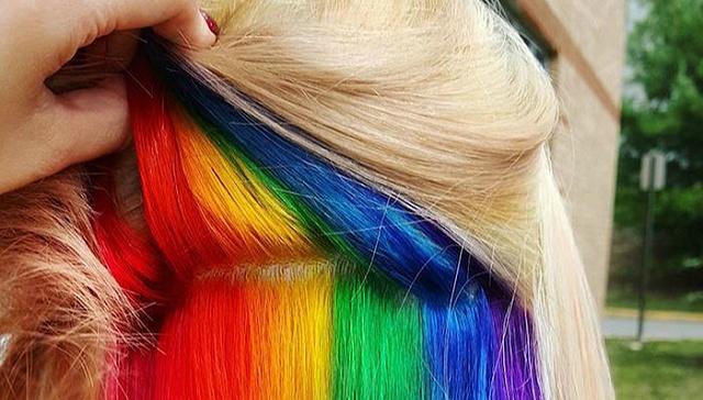 伦敦最新潮流:在头发里藏一片彩虹图片